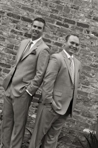 Charlie (left) pictured with his husband, Greg (right)